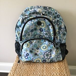 OLD NAVY BLUE FLORAL PRINT BACKPACK
